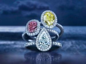 Debeers colored diamond rings