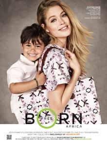 doutzen kroes with son for Born Free