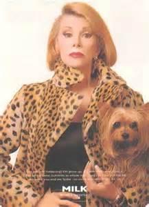 Joan Rivers leopard