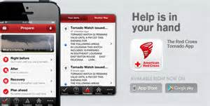 Tornado app by American Red Cross