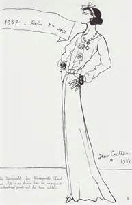 original CoCo Chanel Design Sketches