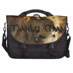 Manly Man Lion Laptop Commuter Bag