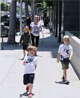 Sharon Stone with three sons