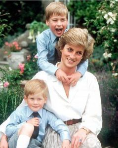 HRH Princess Diana and her Boys