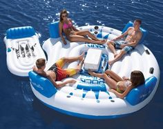 Dock King Island Inflatable Raft