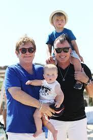 Elton John with Family