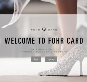 Fohr Card app
