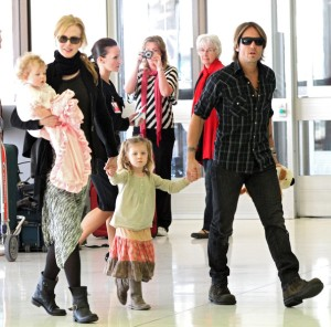 Keith Urban with Family