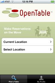 Open Table Restaurant app