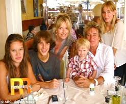 Rod Stewart with Family