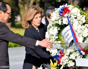 U S Ambassador Carolline Kennedy tribute to Hiroshima