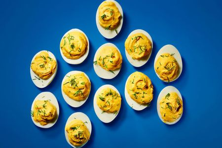 Deviled Eggs Grey Poupon