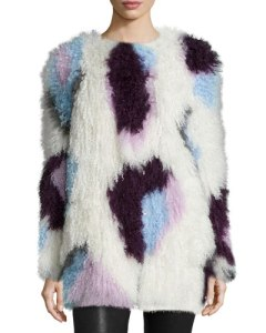 Elizabeth and James fur jacket at Neiman Marcus