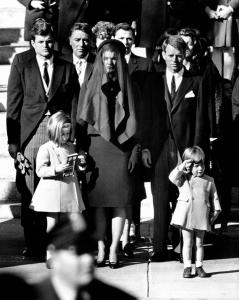 Kennedys at Funeral 1963
