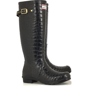 Jimmy Choo Crocodile print Wellingtons