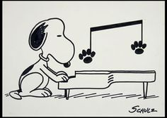 Snoopy at Piano