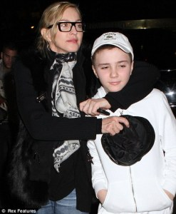 Madonna and son Rocco