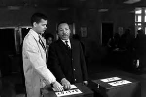 Martin Luther King and Julian Bond