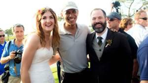 President Obama at wedding