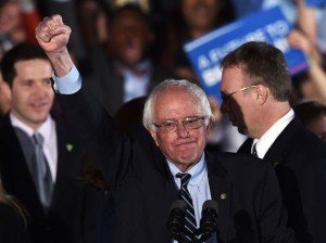 Bernie Sanders victory photo by Getty Images