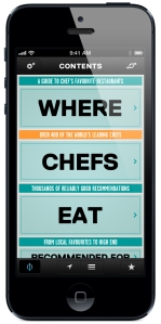 Where Chefs Eat travel app