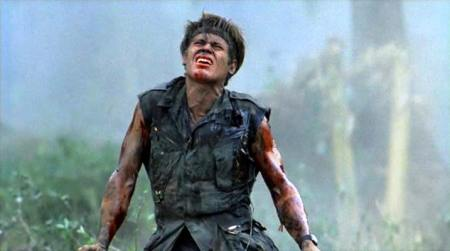 William Dafoe in Platoon