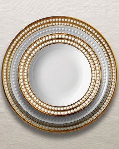 Perelee gold dinner plates Neiman Marcus