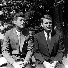 President John F Kennedy with brother Robert F Kennedy