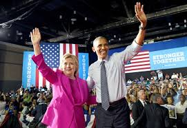 Hillary Clinton and President Obama DNC 2016