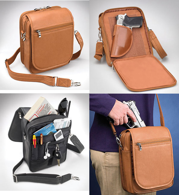 CCW Leather Urban Shoulder Bag