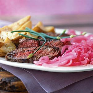 Shallot Rubbed Steak