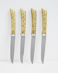 steakknifeset-gold by Hammered