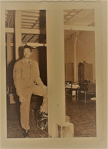 Renee Ashley Baker's Brother James in USAF Barracks 1960 (Zeke Filter)