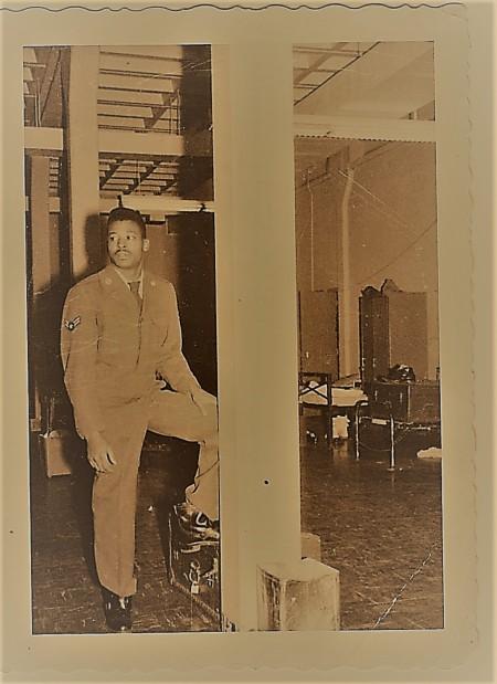Renee Ashley Baker's Brother James in USAF Barracks 1960 (Zeke Filter)