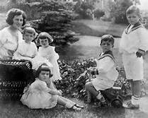 Rose Kennedy with children