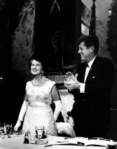 Rose Kennedy with President Kennedy