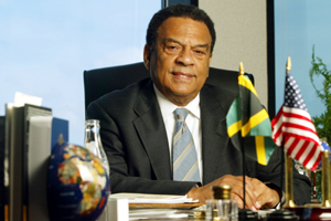 021003-ATLANTA, GA: Portrait of Ambassador Andrew Young at his GoodWorks International office in downtown Atlanta. For Atlanta and the World story. (PHOTO BY PHIL SKINNER /staff).