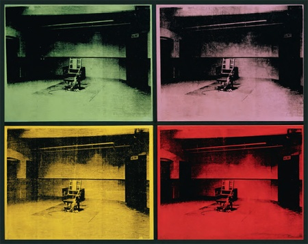 fourelectricchairs by andy warhol
