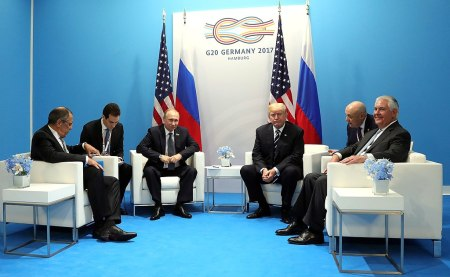 President Donald Trump and President Vladimir Putin at G20 Summit
