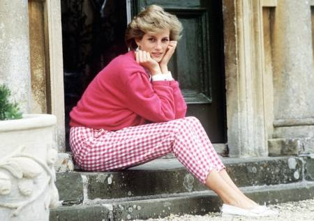 Princess Diana Shy Di in Royal Gingham Check