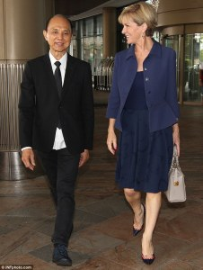 Prof Jimmy Choo with Princess Di