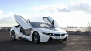 auto bmw i8 spyder gull wings