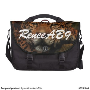 Leopard Laptop Commuter Bag by ReneeAB9