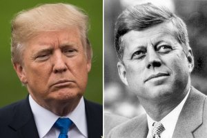 President Donald Trump and President John F Kennedy