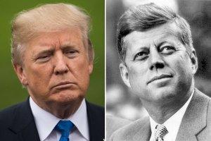 President Donald Trump and President John F Kennedy