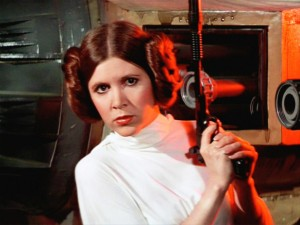 Carrie Fisher as the Princess