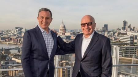 Robert Iger and Rupert Murdoch