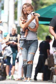 Tyra Banks and son