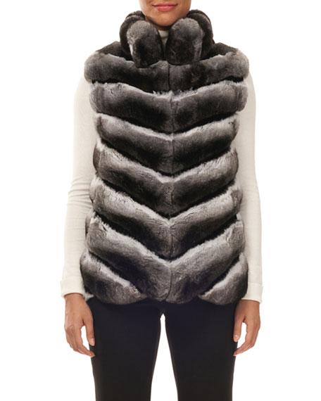 Gorski Chevron Chinchilla Fur Vest 15000