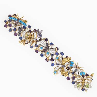 Bunny Mellon 1956 Butterflies Bracelet